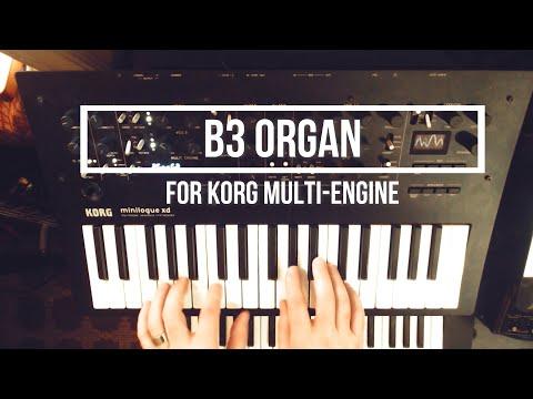 B3 Organ Oscillator and Effect for Korg's Multi-Engine