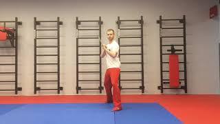 Базовое упражнение с шестом, посохом. Обучение ушу, кунг-фу Xma wushu tutorial