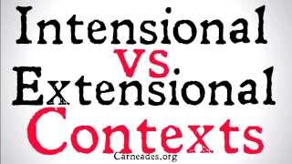 Intensional vs Extensional Contexts (Philosophical Distinctions)