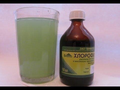 Как полоскать хлорофиллиптом