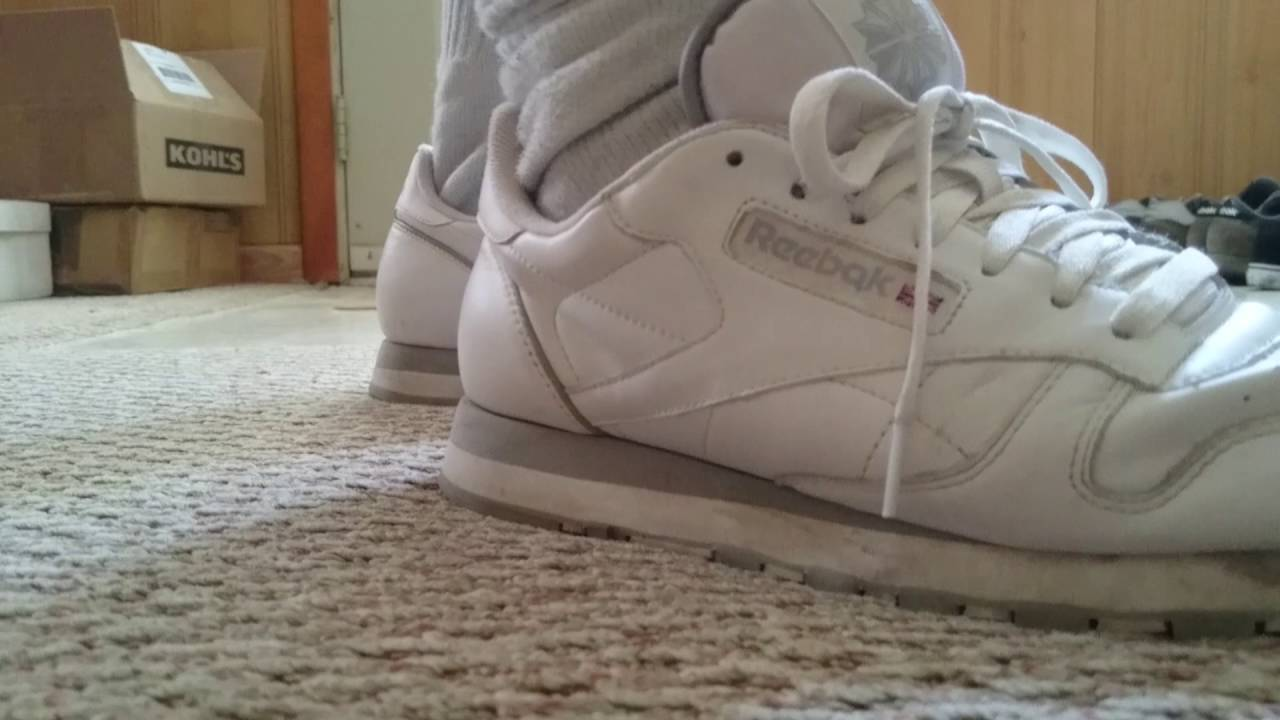 Walking in my White and Grey Reebok Classics I got from the UK ... b879f05b9