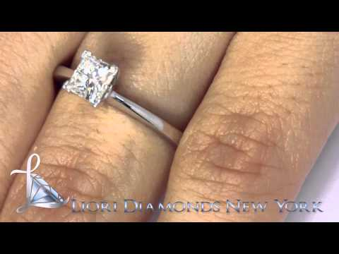 0.71 Ct Princess Cut Diamond Solitaire Engagement Ring