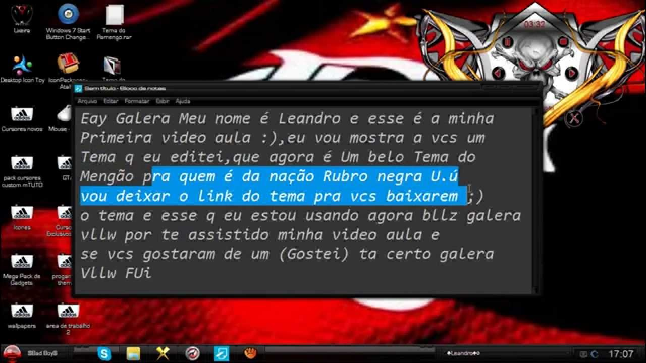 temas do flamengo para windows 7 ultimate