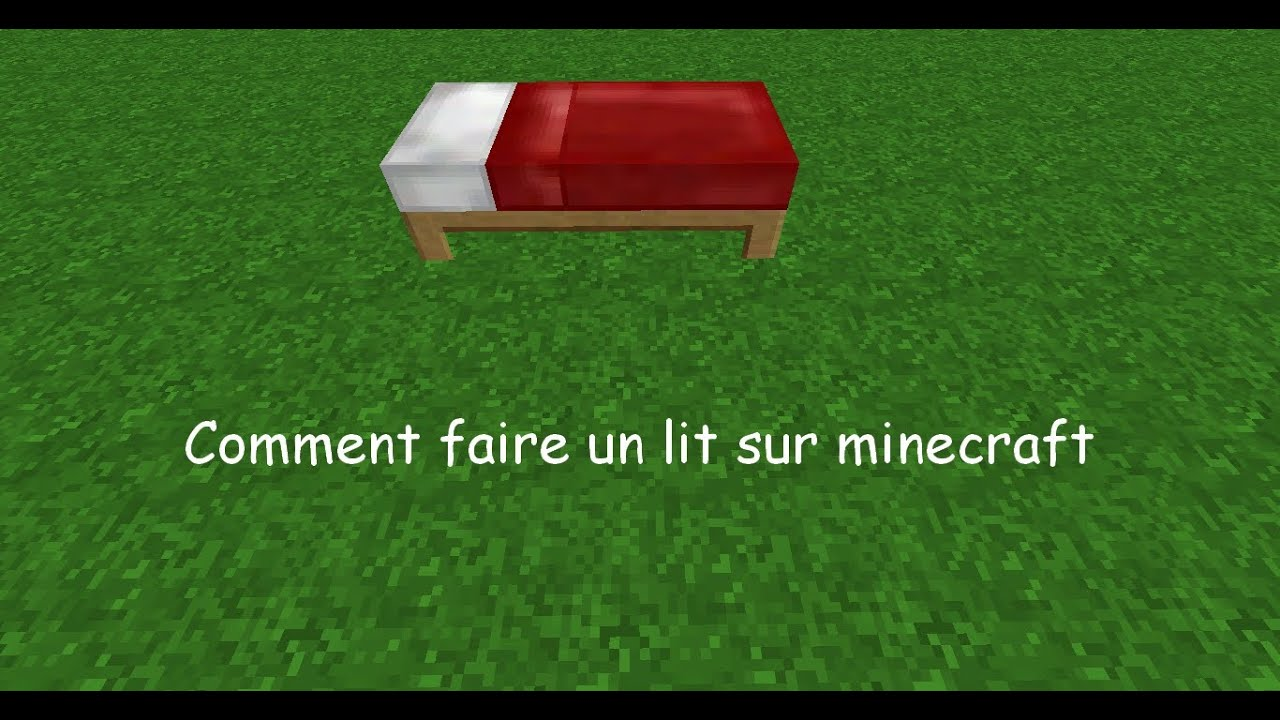 tuto comment crafter un lit sur minecraft youtube. Black Bedroom Furniture Sets. Home Design Ideas