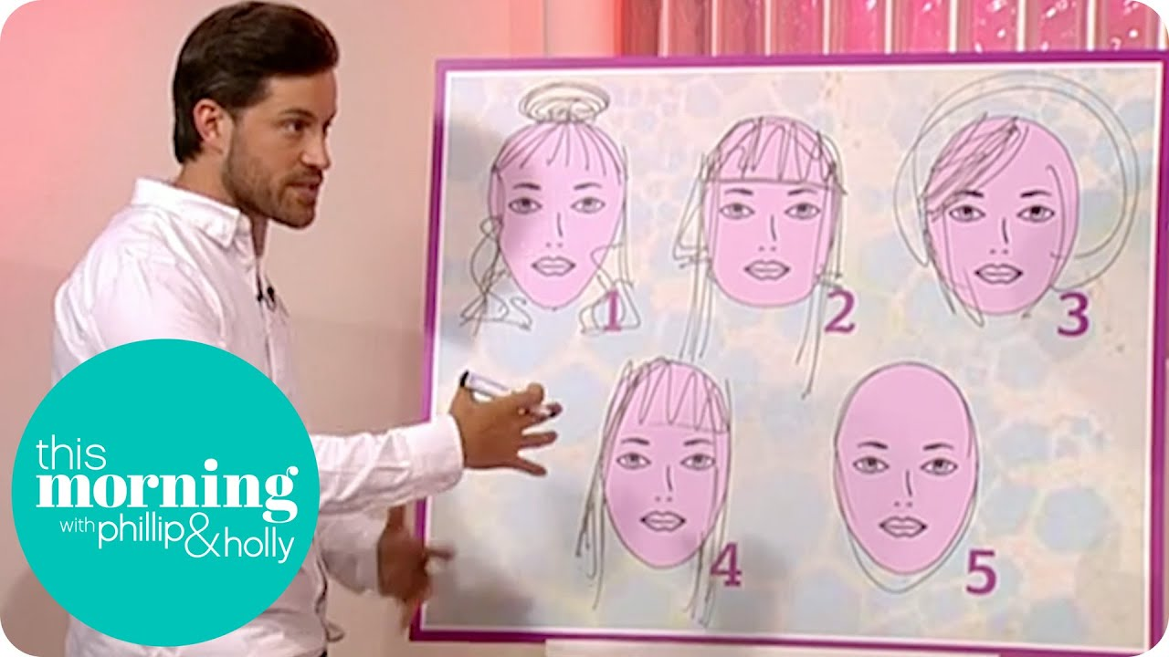 getting the right hairstyle to suit your face | this morning