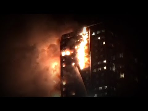 Massive fire engulfs London block of flats