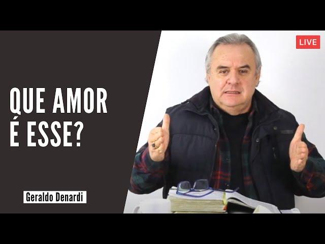 Que amor é esse? - Ap. Denardi - Live 01/07