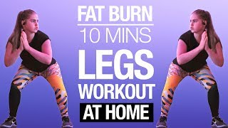10 min LEGS HIIT Workout | FAT BURNING No Equipment At Home Routine