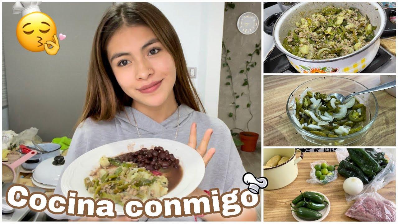 Download Cocina conmigo 👩🏻🍳| Rajas poblanas con carne molida | Ammy Alvarado