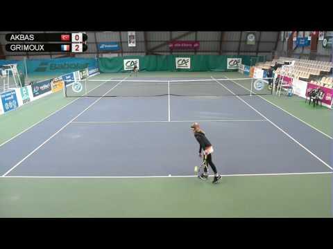 AKBAS (TUR)  vs GRIMOUX (FRA) - Open Super 12 Auray Tennis - Court 4