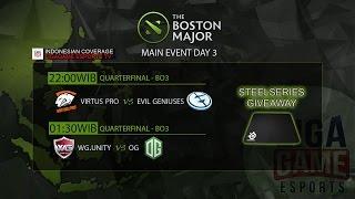 Dota 2 (Giveaway) : EG , Virtus.Pro, OG & Warrior Gaming @ The Boston Major