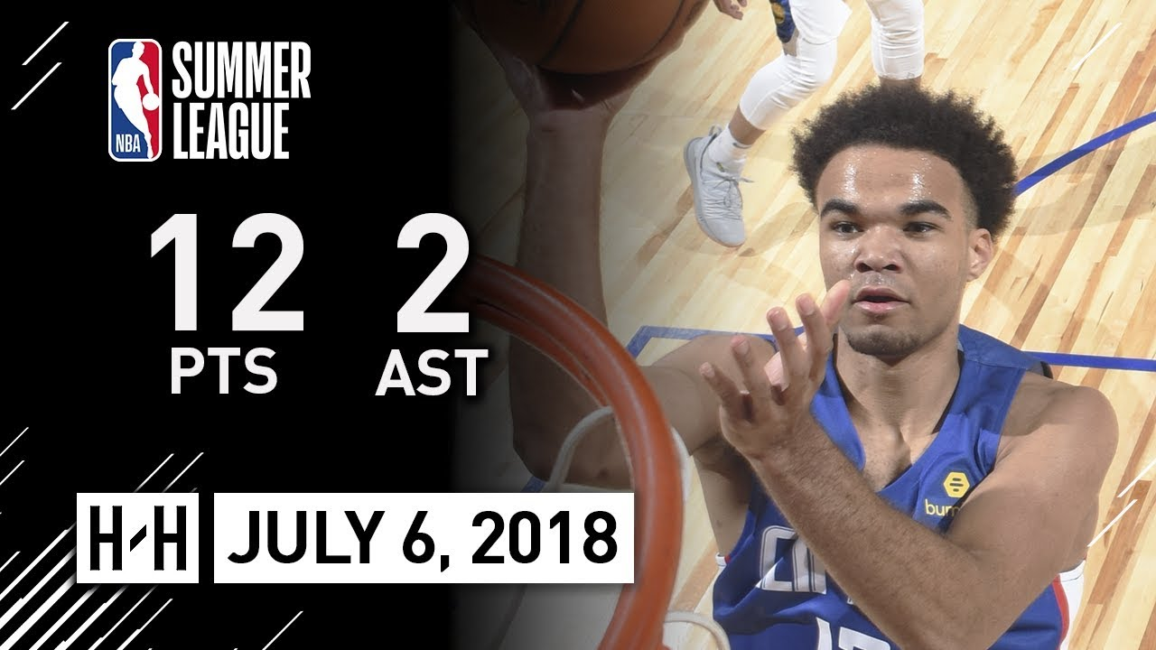 cc0fa3b2599 Jerome Robinson Full Clippers Debut Highlights vs Warriors (2018.07.06) Summer  League - 12 Pts