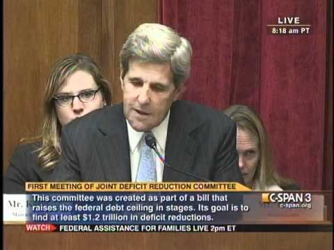 Senator Kerry Super Committee Opening Statement