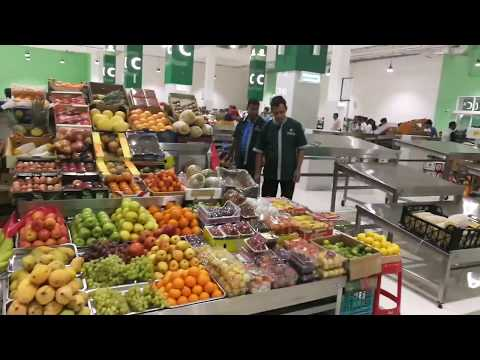 Visiting the New Fruit & Vegetable Waterfront Market in Dubai 07.07.2017