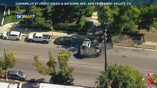 High-speed chase ends in dramatic rollover crash in San Fernando Valley I ABC7