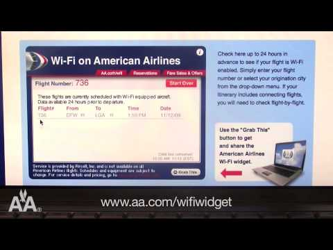 Find Out If Wi-Fi Is On Your Next American Airlines Flight With Our New Wi-Fi Widget
