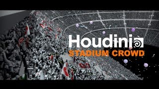 I created and rendered this stadium crowd in Houdini.