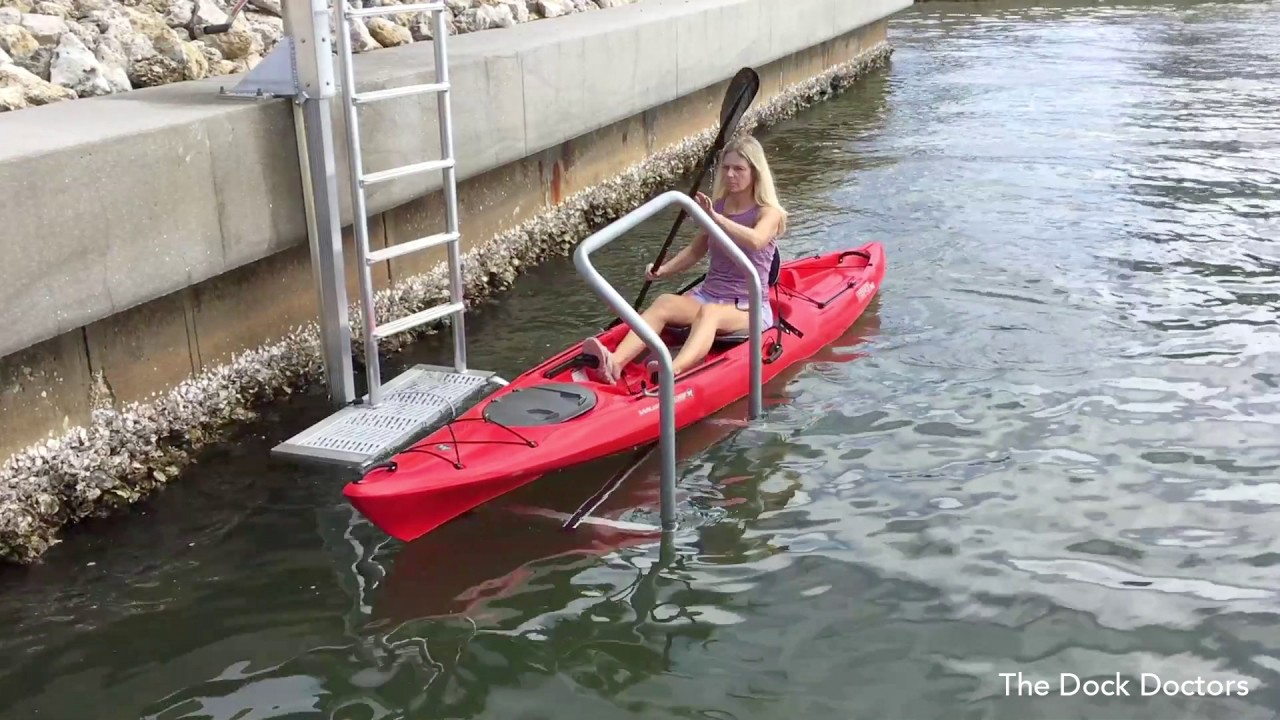 Launch Your Kayak From Your Seawall With The Kayak Ladder