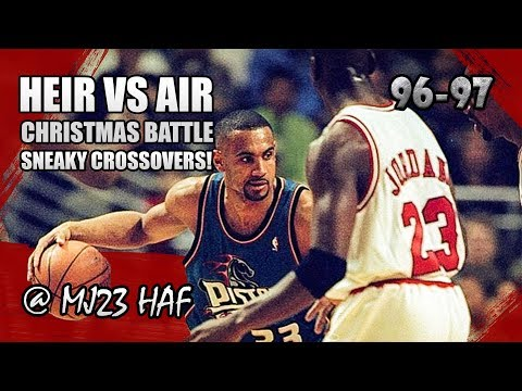 Michael Jordan vs Grant Hill Highlights Bulls vs Pistons (1996.12.25)-50pts ALL,AIR vs HEIR! (FIXED)