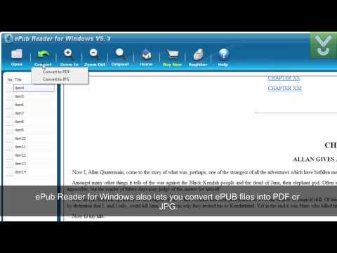 ePub Reader for Windows - View, read, and convert ePub e-books - Download Video Previews