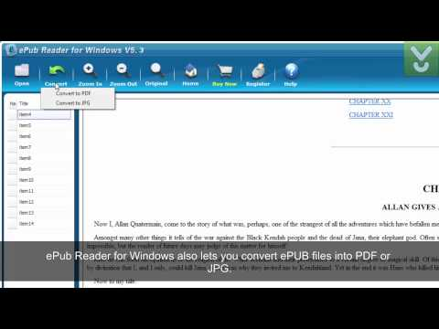 EPub Reader For Windows - View, Read, And Convert EPub E-books - Download Video Previews
