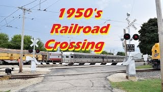 NEW 1950's era Griswold Railroad Crossing at IRM
