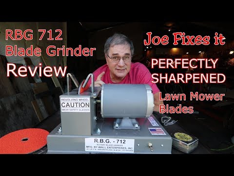 PERFECTLY SHARPENED Lawn Mower Blades | RBG 712 Blade Grinder Review | Joe Fixes It