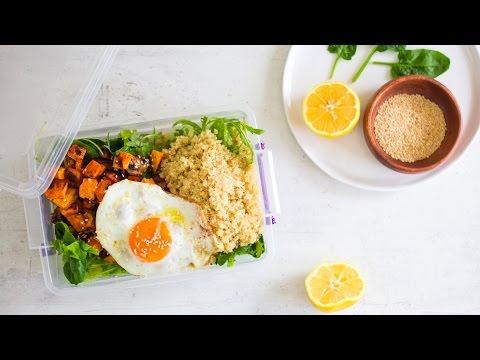 Healthy Packed Lunch Idea - Veggie & Sweet Potato Quinoa Salad