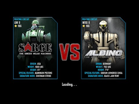 Real Steel WRB Free Sparring   Sarge VS Albino   NEW ROBOT