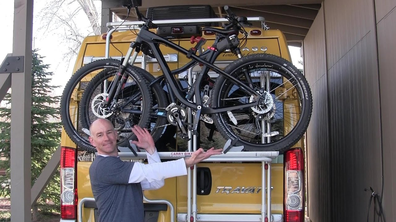 Using The Fiamma Rv Bike Rack Youtube