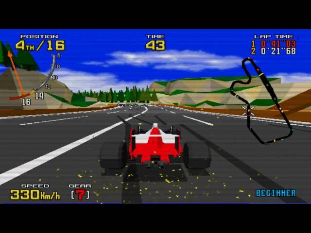 Virtua Racing - Hardest - MAME  60 FPS