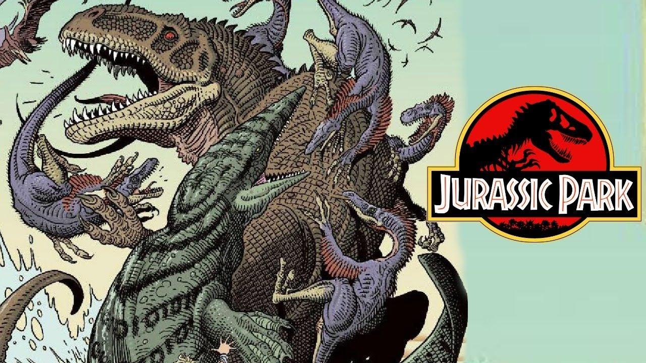 giganotosaurus vs mosasaurus jurassic park redemption