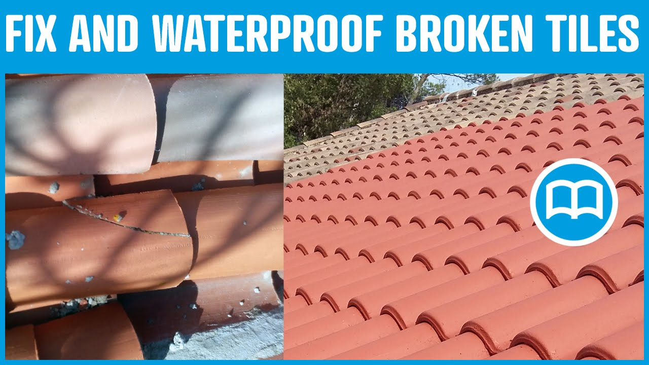 Waterproof roof prevent water infiltration through roof cracks waterproof roof prevent water infiltration through roof cracks repair broken roof tiles youtube ppazfo