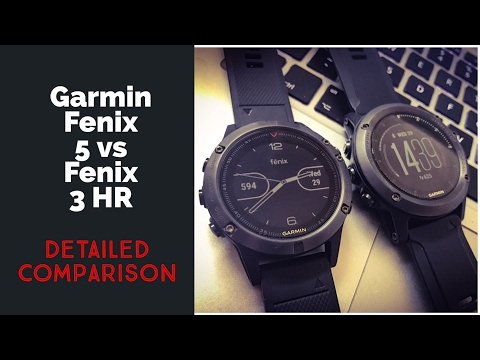 Garmin Fenix 5 Vs Fenix 3 HR Feature Comparison  // Best Fitness Watch 2017