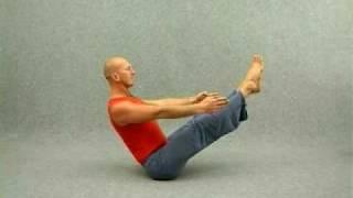 Видео уроки  по йоге. Лодка