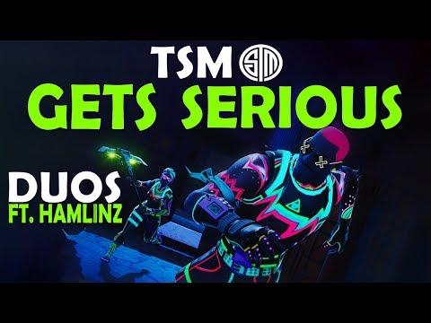 TSM GETS SERIOUS   Daequan & Hamlinz vs. TOP 10 DUO TEAM - (Fortnite Battle Royale)