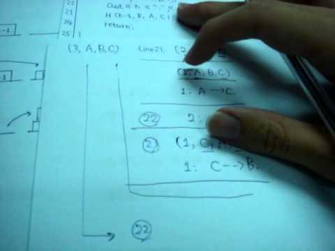 C++程式設計 [11.2]河內塔01版_程式解析 - YouTube