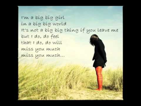 Emilia - Big Big World with Lyrics _ wunderschön