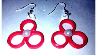 Quilling Earring | Earring designs making methods | Earrings Making Video | DIY Quilling Earring
