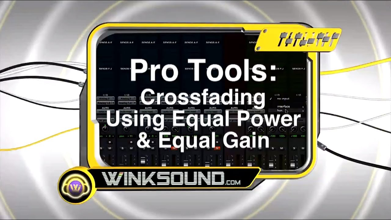 pro tools crossfading using equal power and equal gain winksound youtube. Black Bedroom Furniture Sets. Home Design Ideas