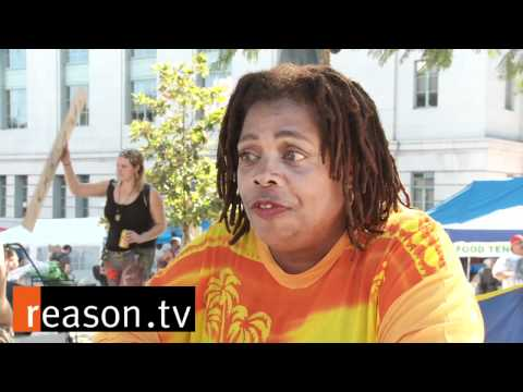 Black Woman Anti Semetic at Occupy wall street LA  ( It's not the Jew's fault )