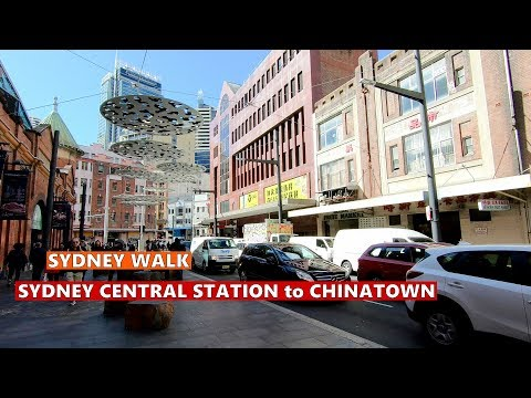 Walking From SYDNEY CENTRAL STATION To CHINATOWN, Sydney City WALKING TOUR Winter 2019, Australia