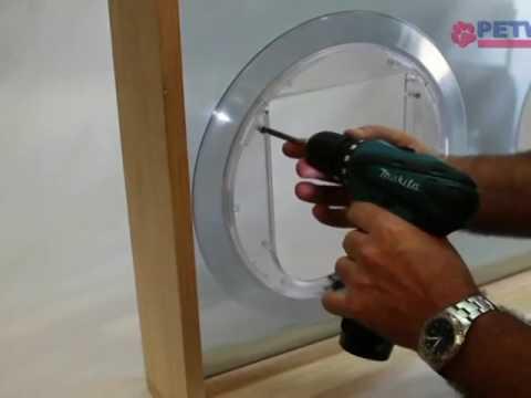 Glass Fitting Pet Door Installation Petway Pet Doors Youtube