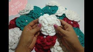 Flor Viciadas em Crochê Para Aplicações