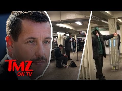Adam Sandler Performs Raunchy New  in NYC Subway  TMZ TV