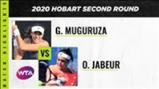 Garbiñe Muguruza vs. Ons Jabeur | 2020 Hobart Second Round | WTA Highlights