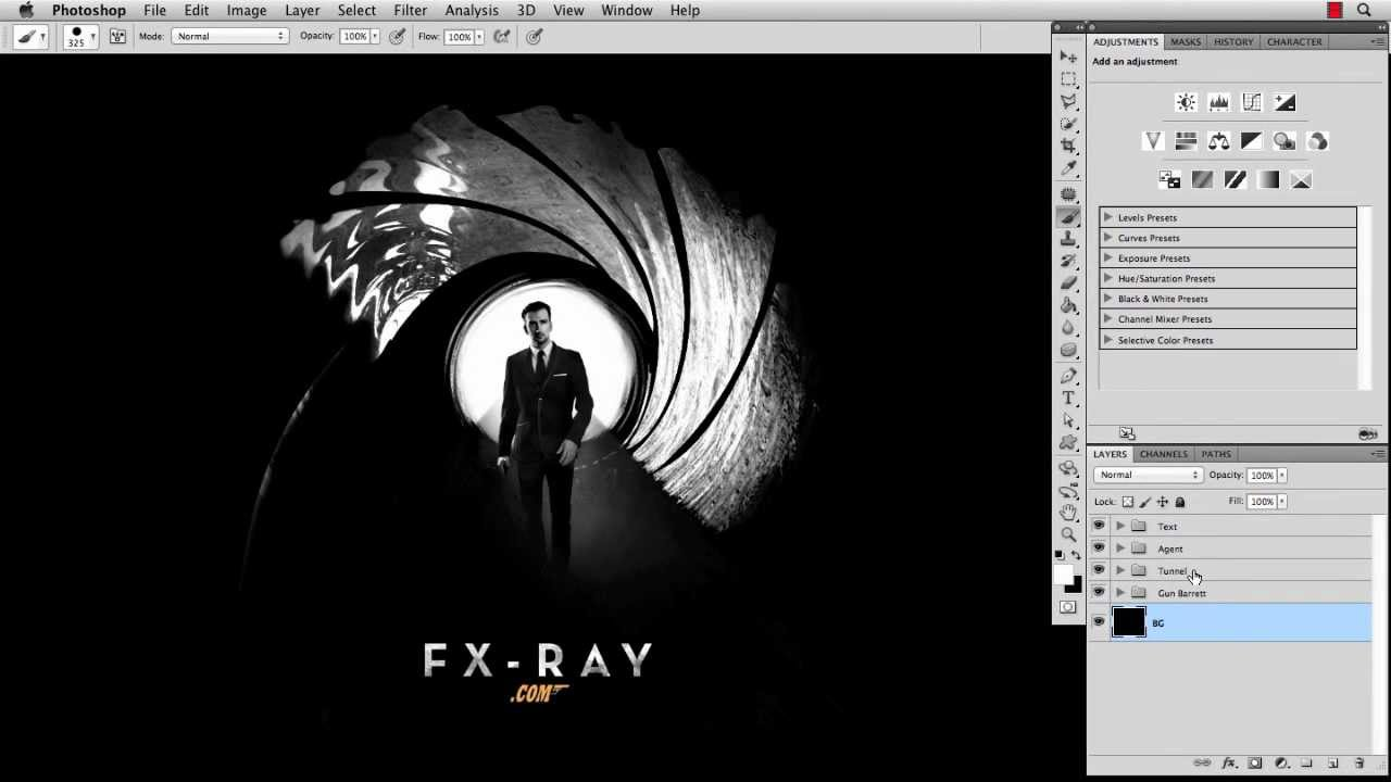 photoshop tutorial skyfall poster