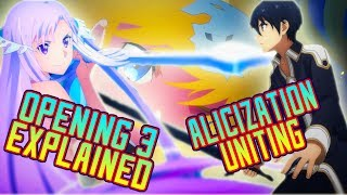 Sword Art Online Alicization - Opening 3 EXPLAINED! | Gamerturk Reviews!