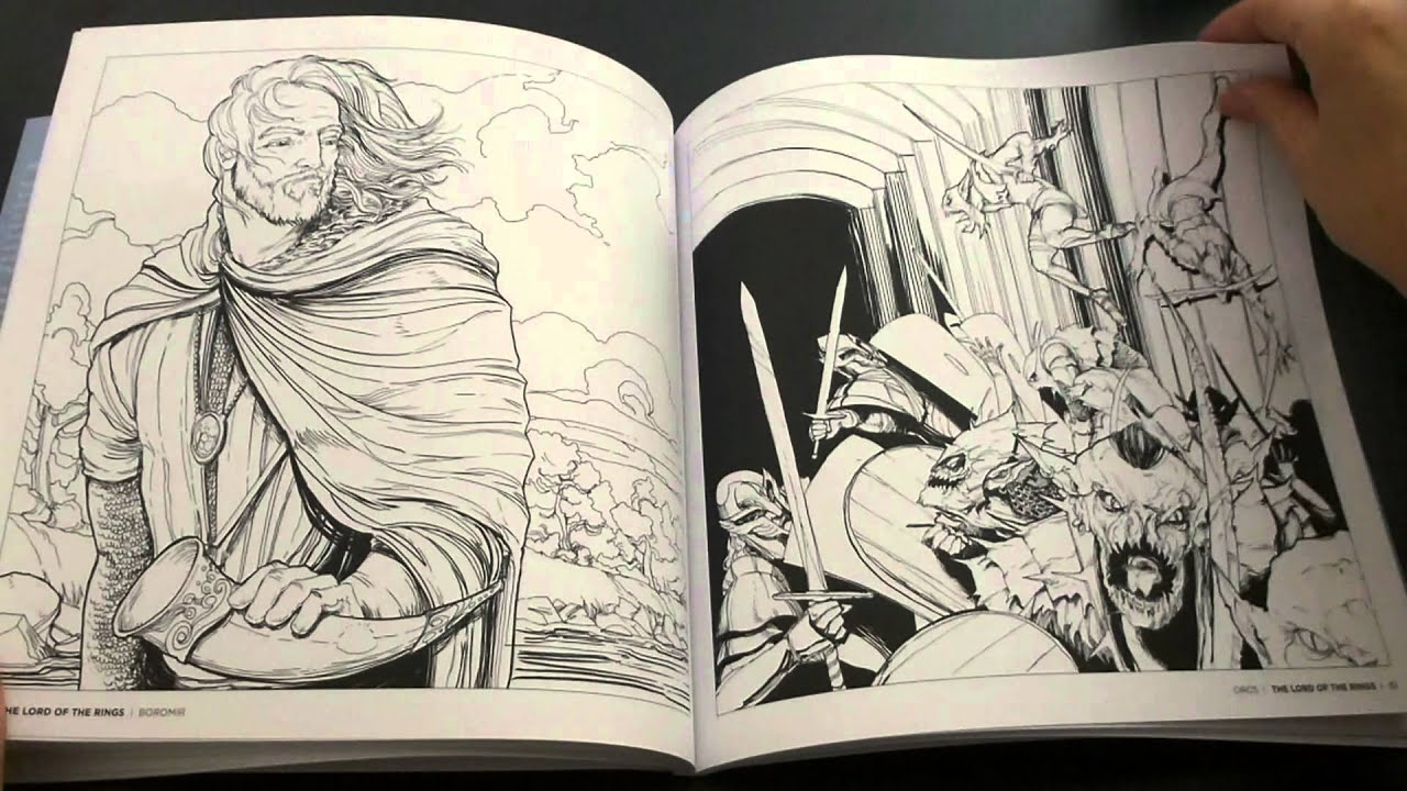Tolkiens World A Colouring Book Flip Through