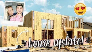 OUR NEW HOUSE HAS WALLS! HOME BUILDING UPDATE!